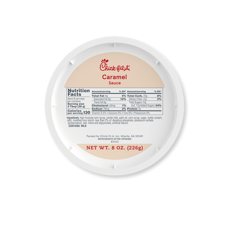 8oz Caramel Sauce