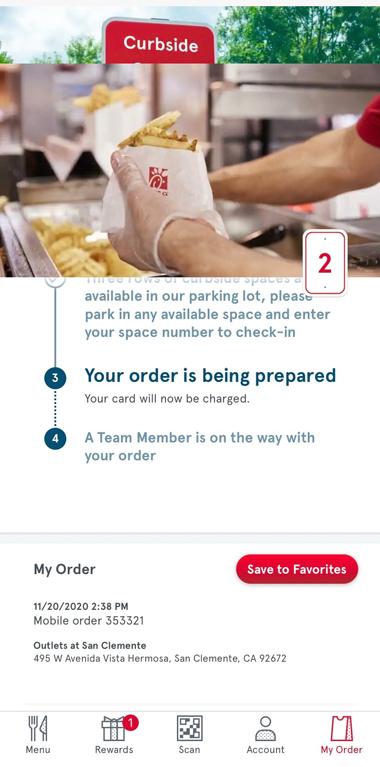 curbside ordering step 3