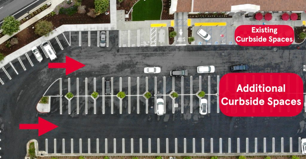 curbside spaces overhead